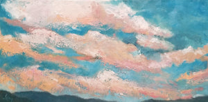 "Cotton Candy Sky, 12"" x 24"""