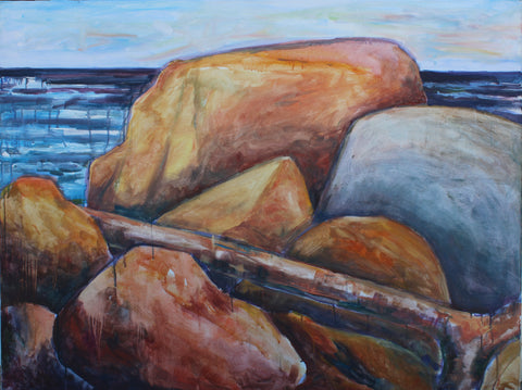 "Gros Morne Beach II, 48"" x 36"""