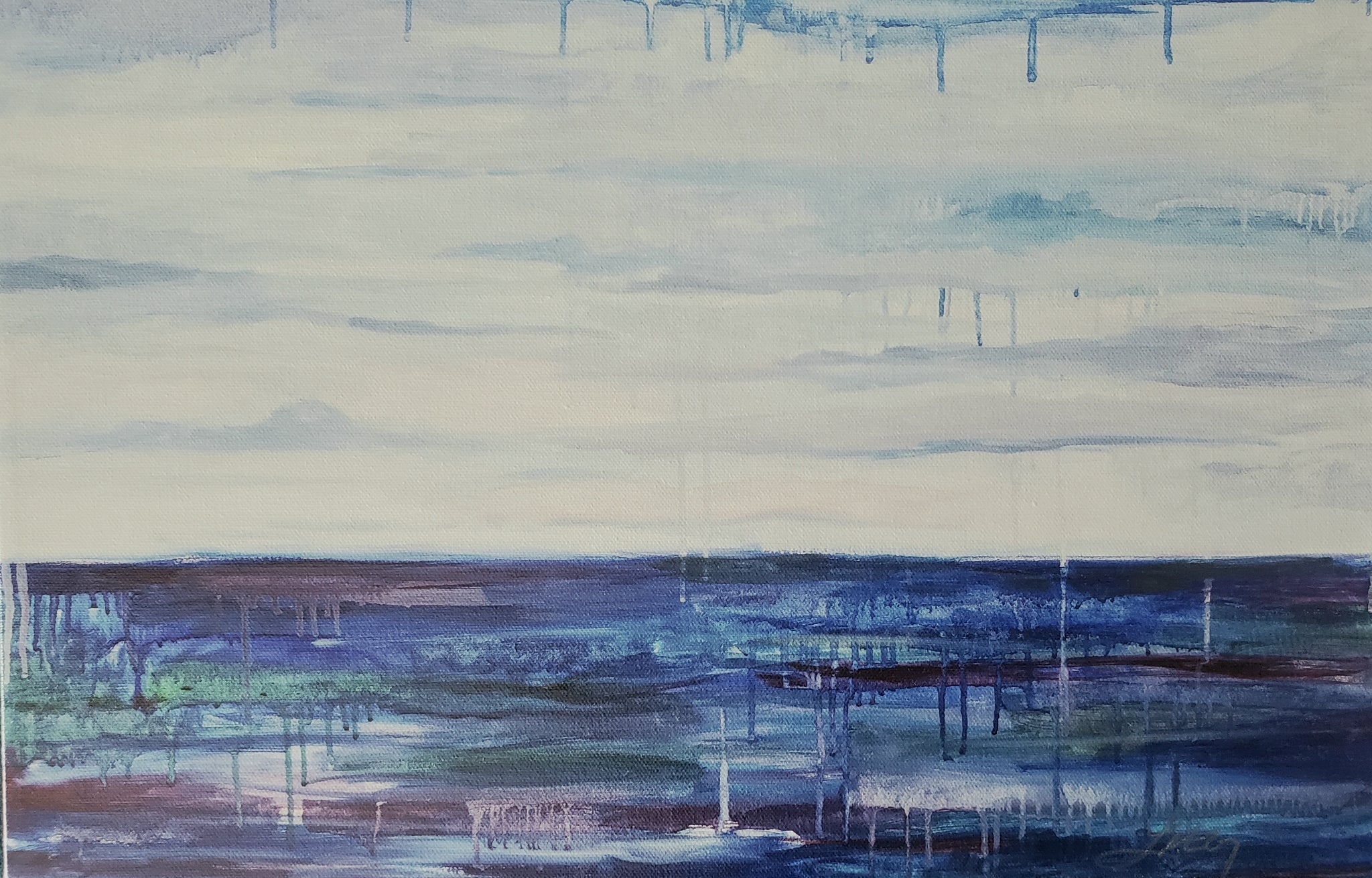 "My Comforting Sea. 10.5"" x 16"""