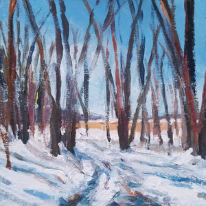 "Early Winter Ski Trail 6"" x 6"""