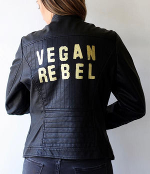 Vegan Rebel Faux Leather Jacket