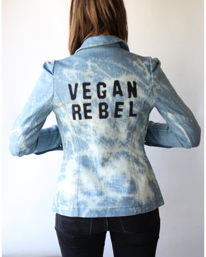 "Haute Couture One of a Kind Up-cycled New Jacket ""Vegan Rebel"" Collab & Design by Jarod-Pi"