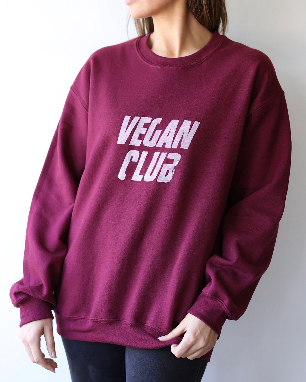 Vegan Club Unisex Sweatshirt - Maroon