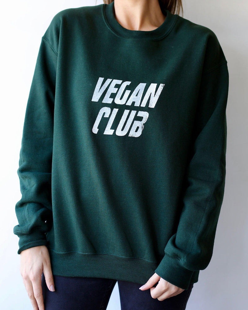 Vegan Club Unisex Sweatshirt - Forest Green