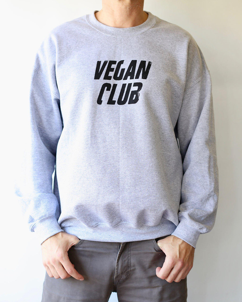 Vegan Club Unisex Sweatshirt - Heather Grey
