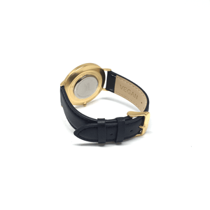 36mm Gold | Black Stitched Band