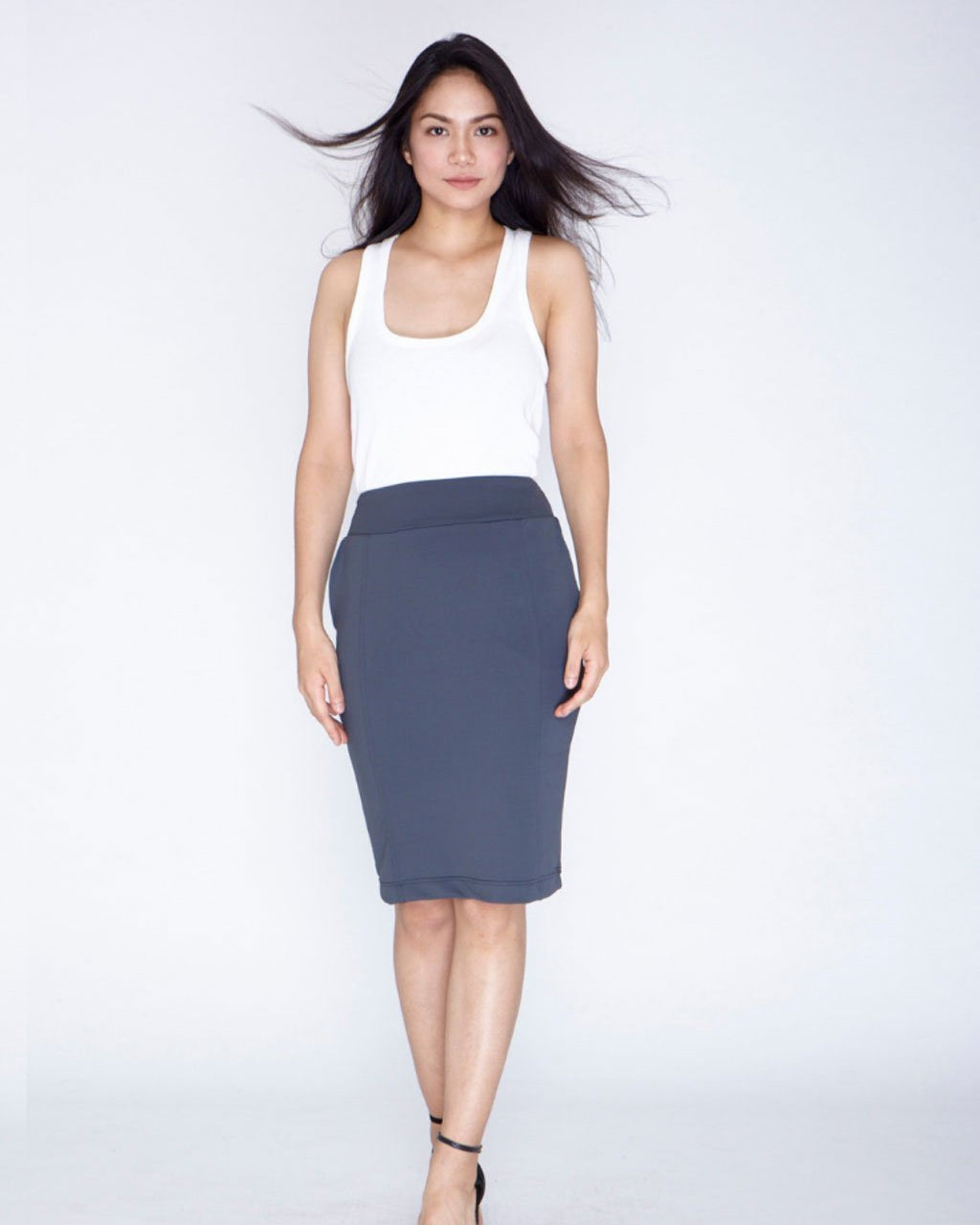 The Everyday Skirt - Charcoal