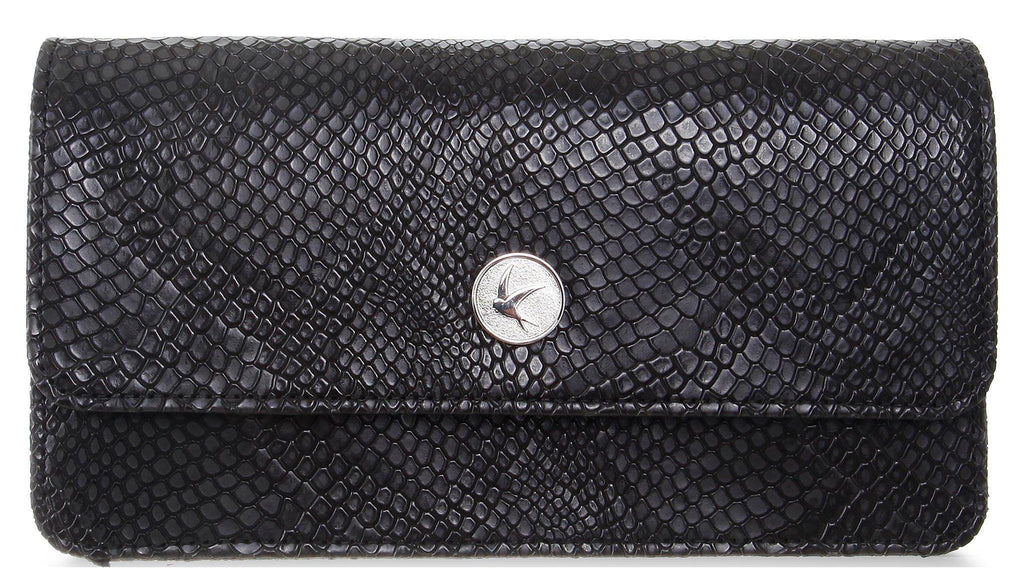 Sara Chain Wallet Purse - Black