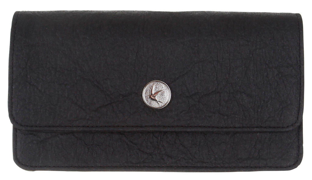 Sara Chain Wallet Purse - Black Piñatex®