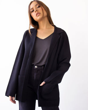 CASSINI BLAZER JACKET- BLACK