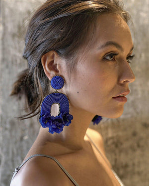 Flora Belle Earrings - Azure