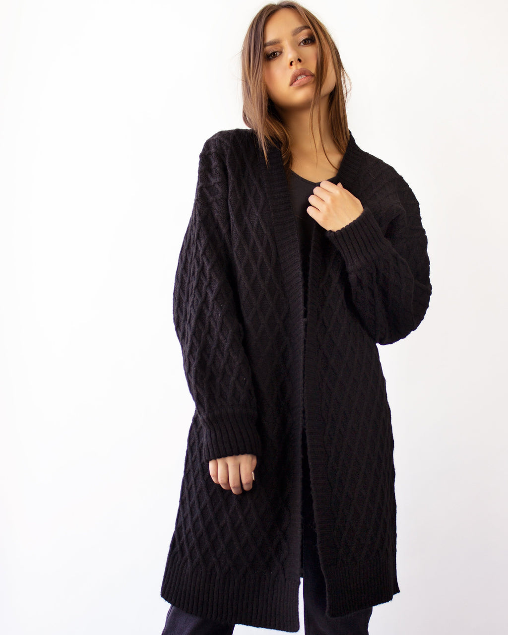GEMMA CARDIGAN- BLACK