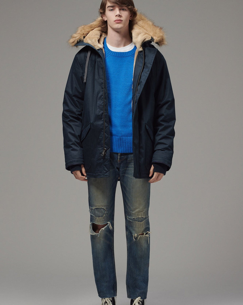 Men's Nordic Parka - Midnight Blue