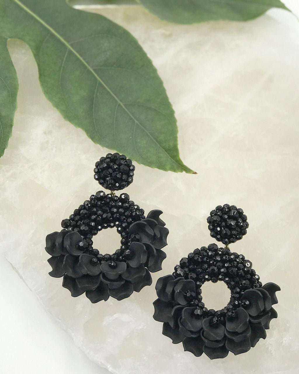 Dancing Lady Earrings - Black