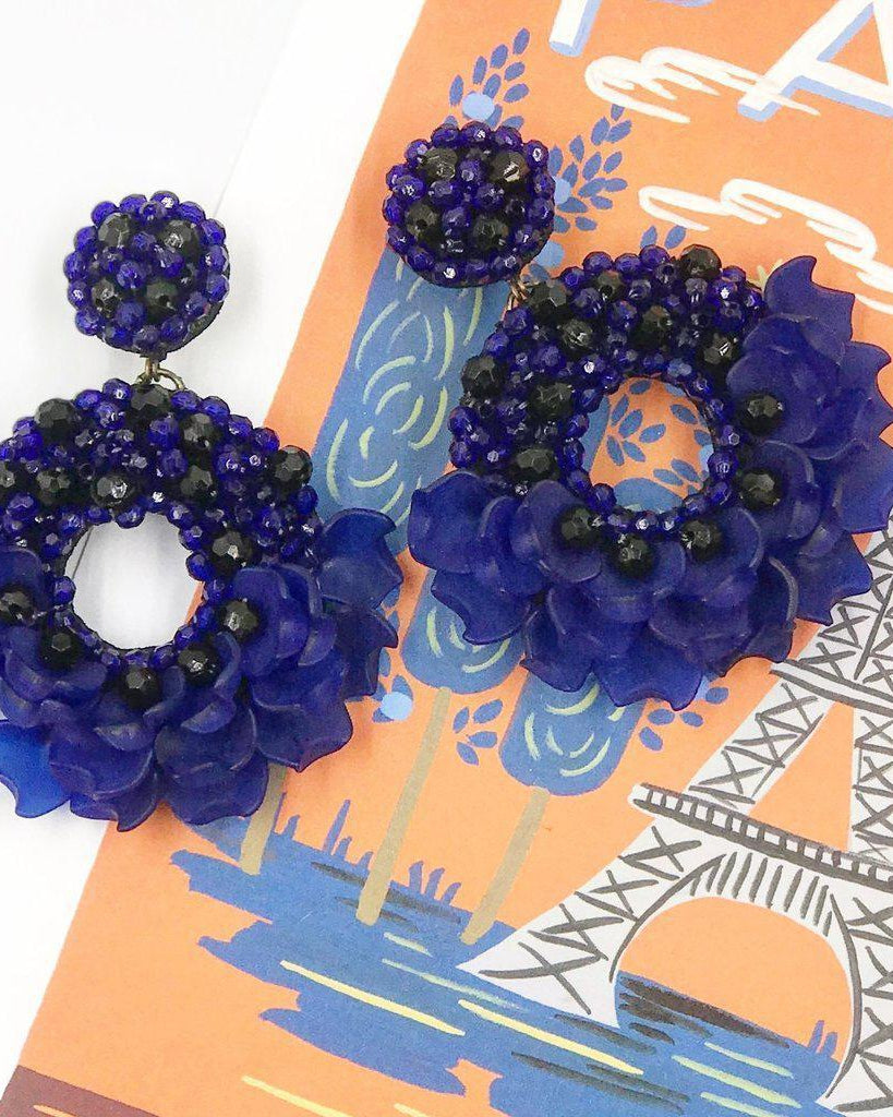 Dancing Lady Earrings - Blue