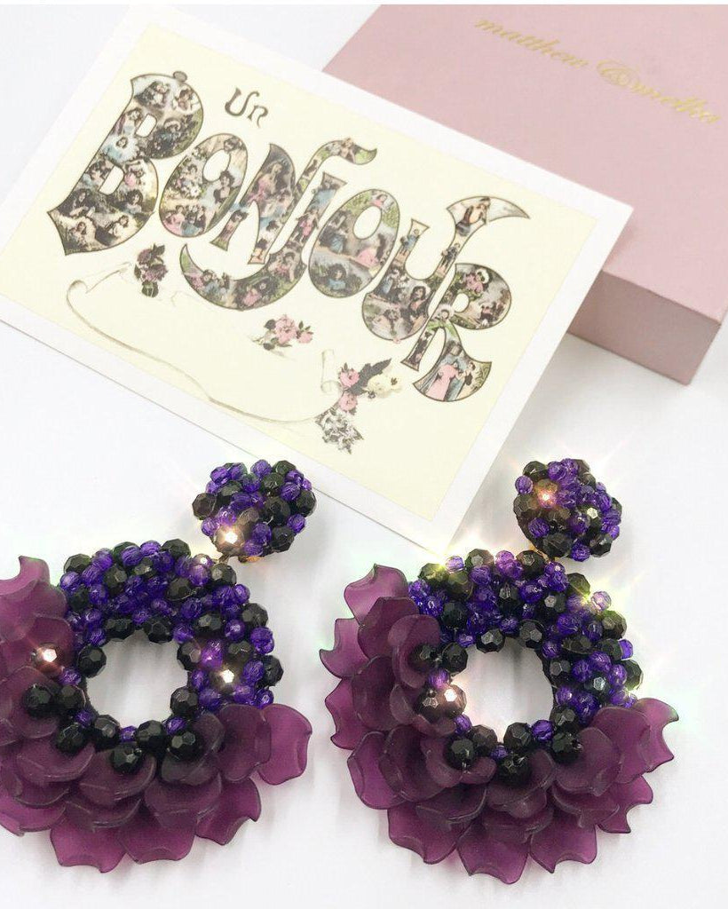 Dancing Lady Earrings - Purple