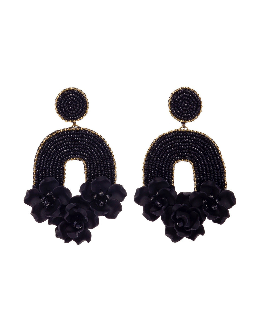 Flora Belle Earrings - Black