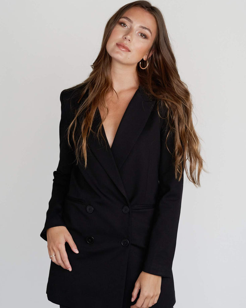Arla Blazer Dress - Black
