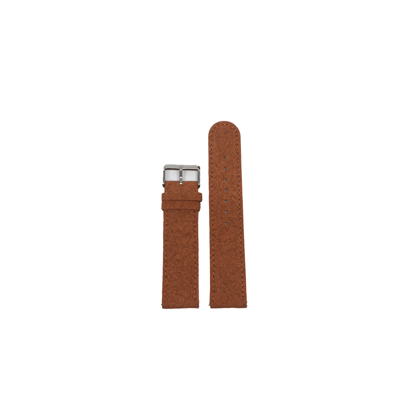 20mm Terracotta Suede Stitched Band