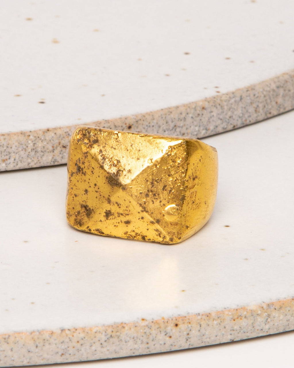 Brass Ring Pointed Square