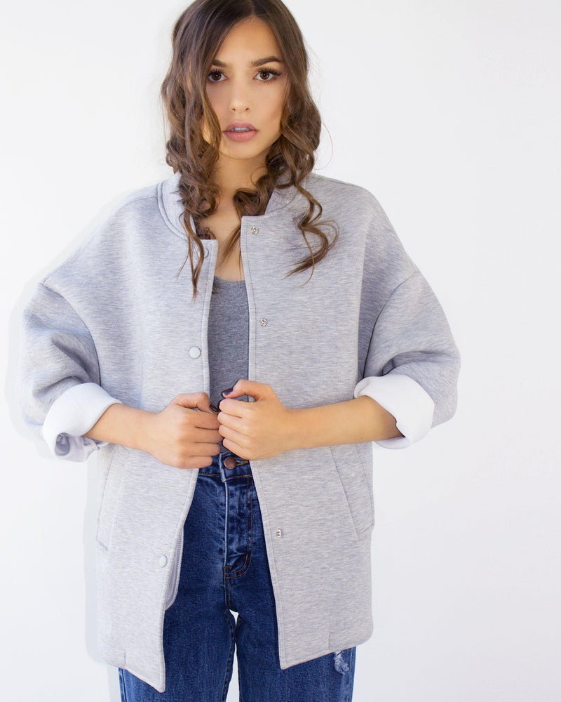 RIGEL SHORT COAT- GRAY
