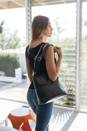 Gemma Backpack Purse - Black