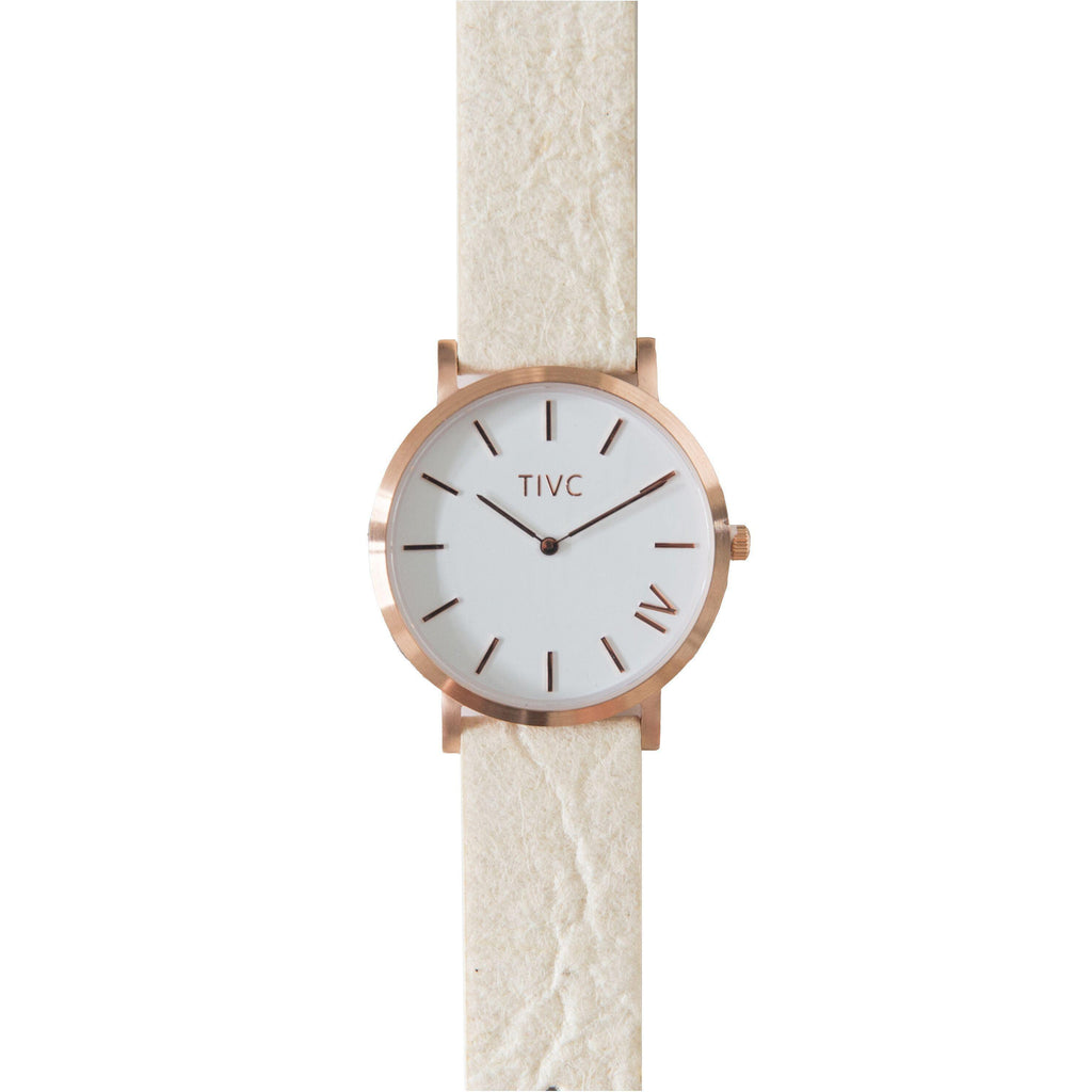 Rose Gold | Pinatex Band (Natural)