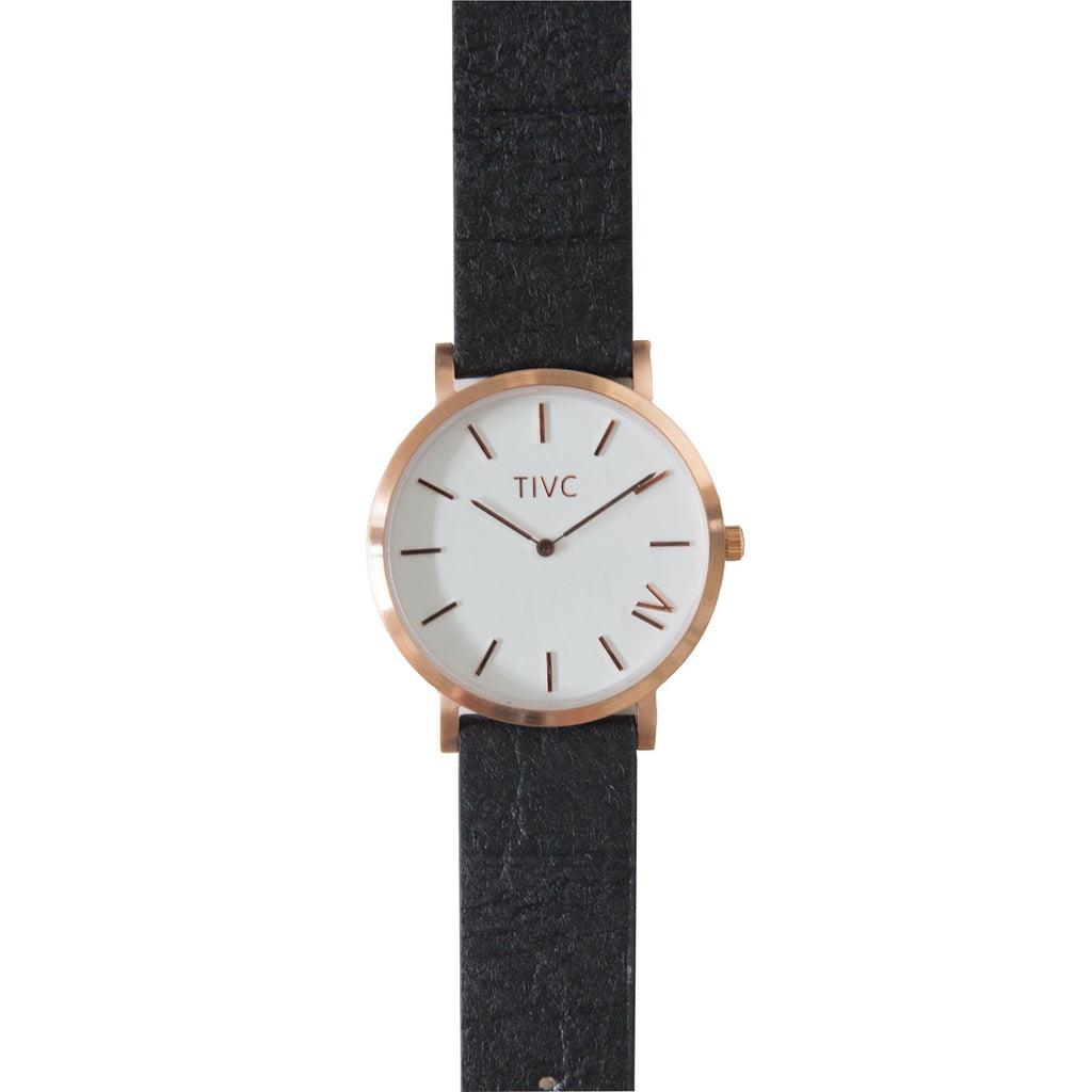 Rose Gold | Pinatex Band (Black)