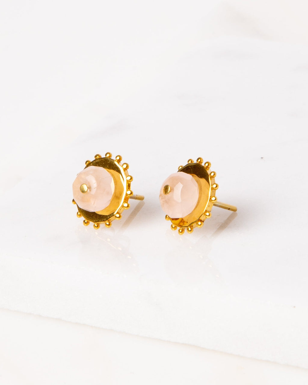 Two-Way Earrings / Rose Quartz