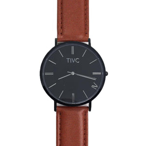 Black | Tan Stitched Band