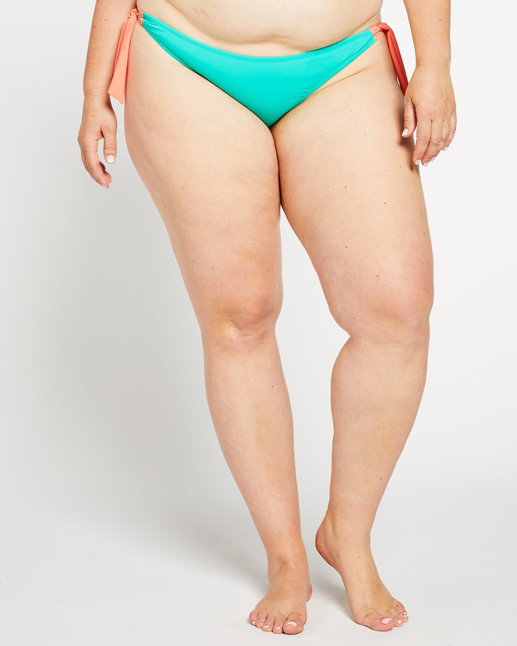 """The Tam Tam"" Side Tie Cheeky Bikini Bottom in Aqua"