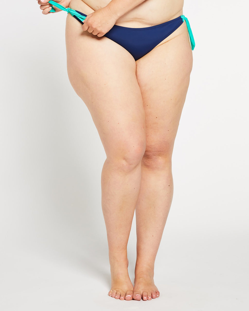 """The Tam Tam"" Side Tie Cheeky Bikini Bottom in Ocean Navy"