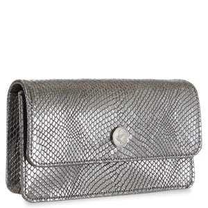 Sara Chain Wallet Purse - Silver