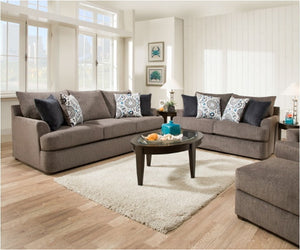 Grand Flannel Sofa/Loveseat Combo