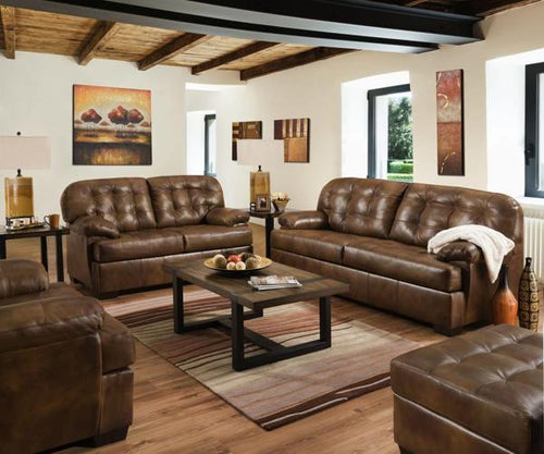 Lane Chaps Leather Sofa/Loveseat Combo