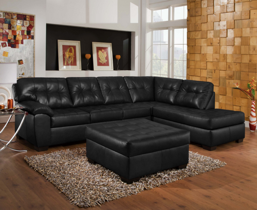 Showtime Oynx Leather Sectional