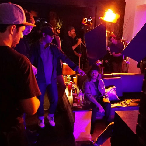 Shomi Patwary directing on set directing The Weeknd