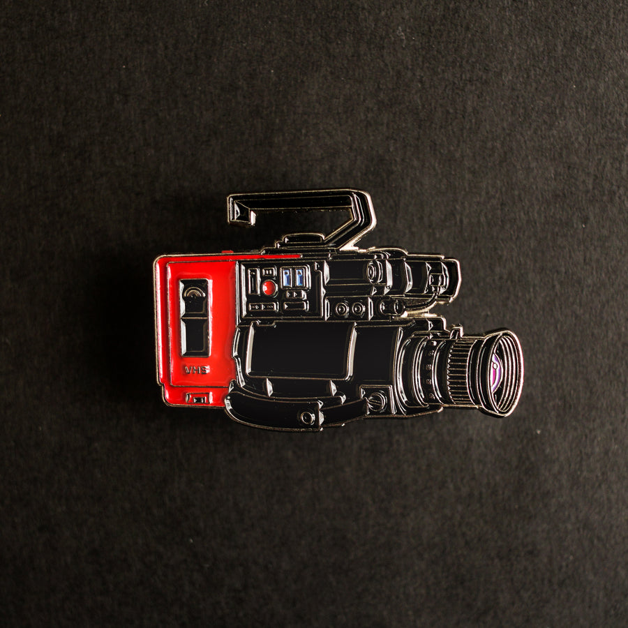 80s VHS Camera Enamel Pin