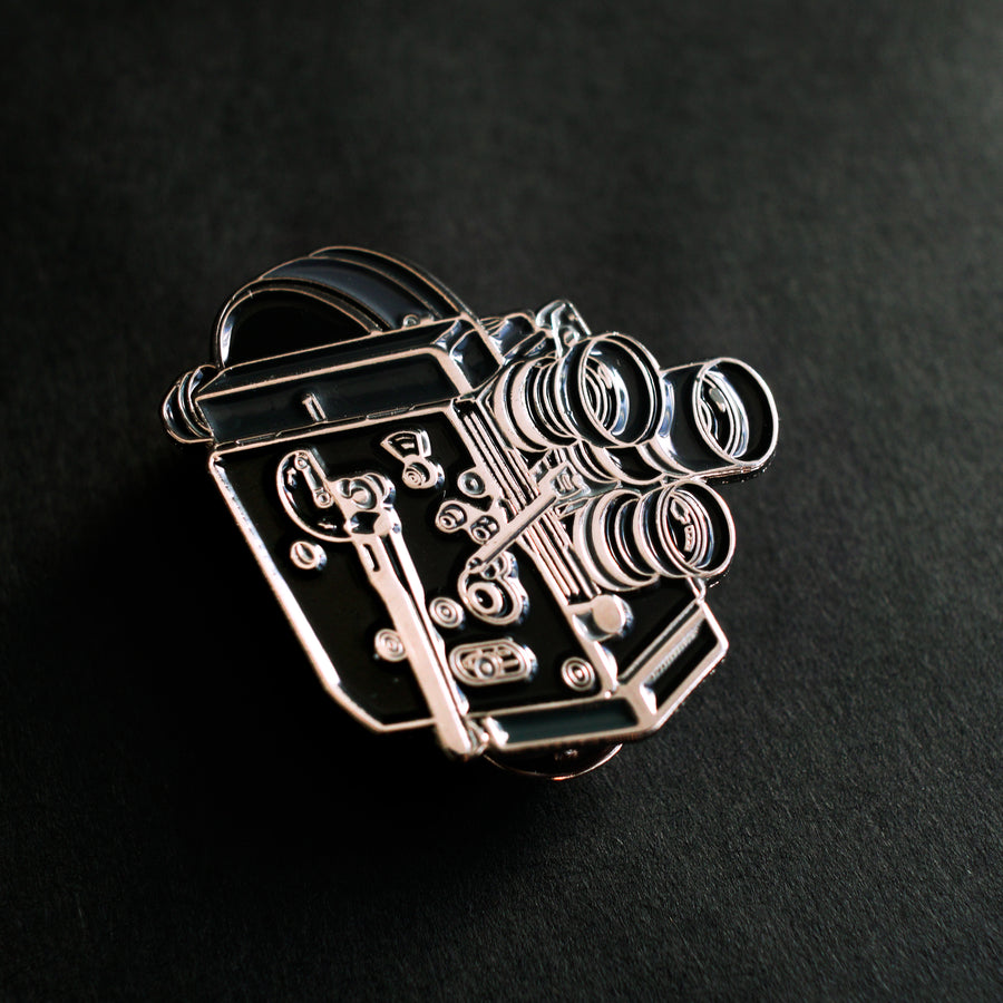 16MM FILM CAMERA ENAMEL PIN