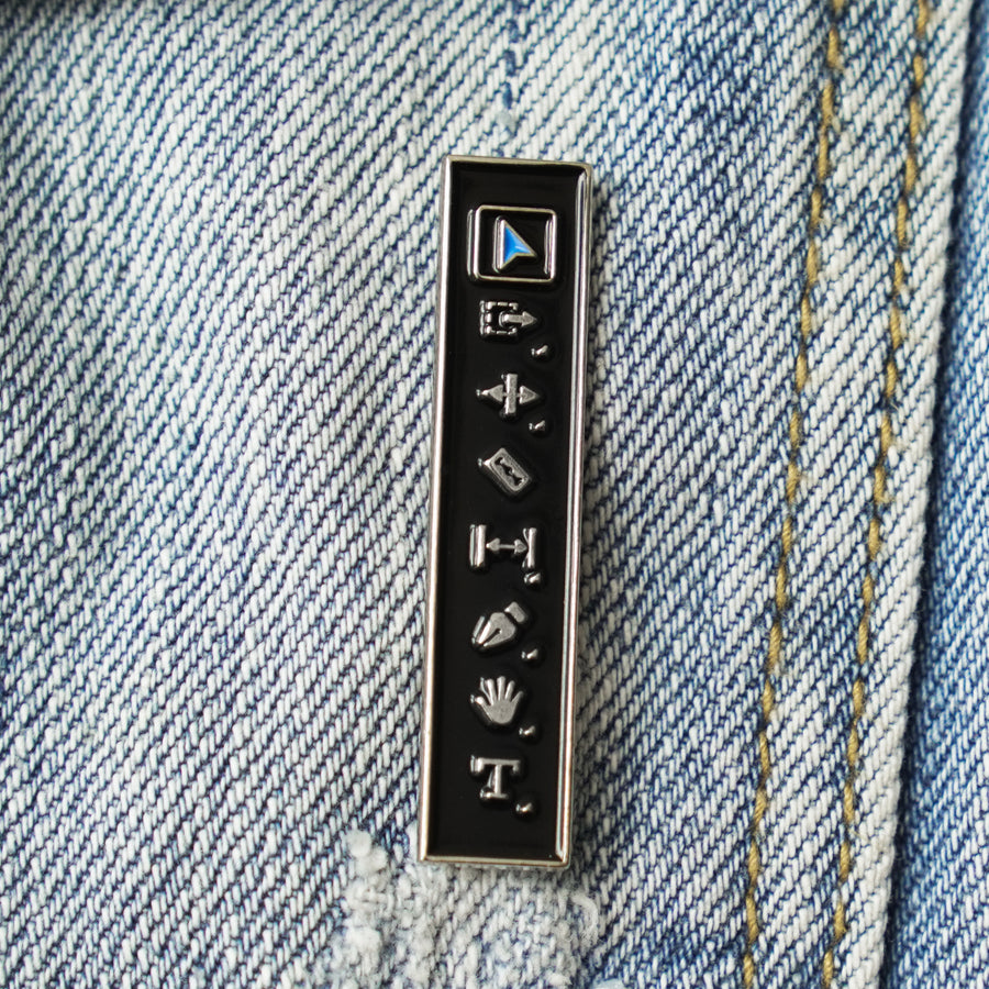 Editor's Toolbar Enamel Pin
