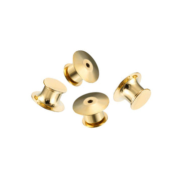 Gold/Silver Metal Locking Pin Backs (4 pack)
