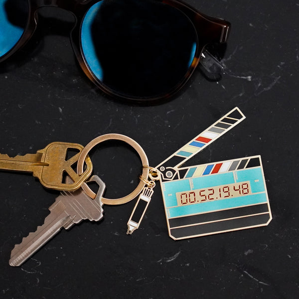 Glow in the Dark Timecode Slate Keychain