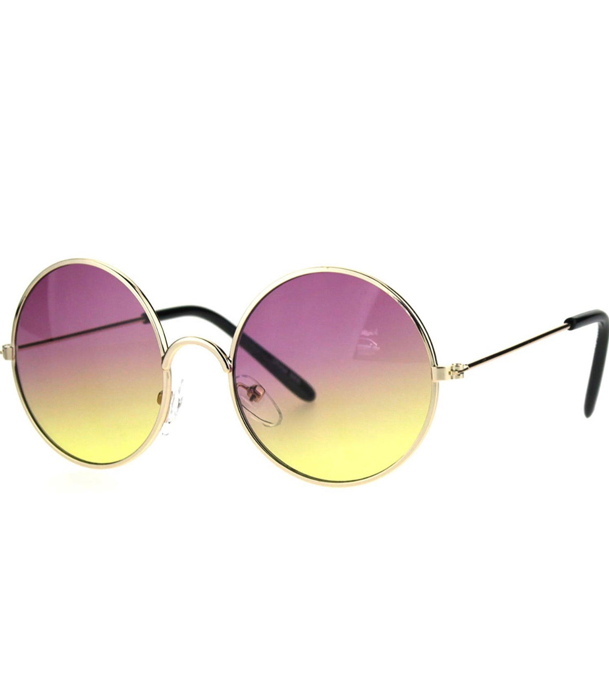 Yellow Purple Sunglasses