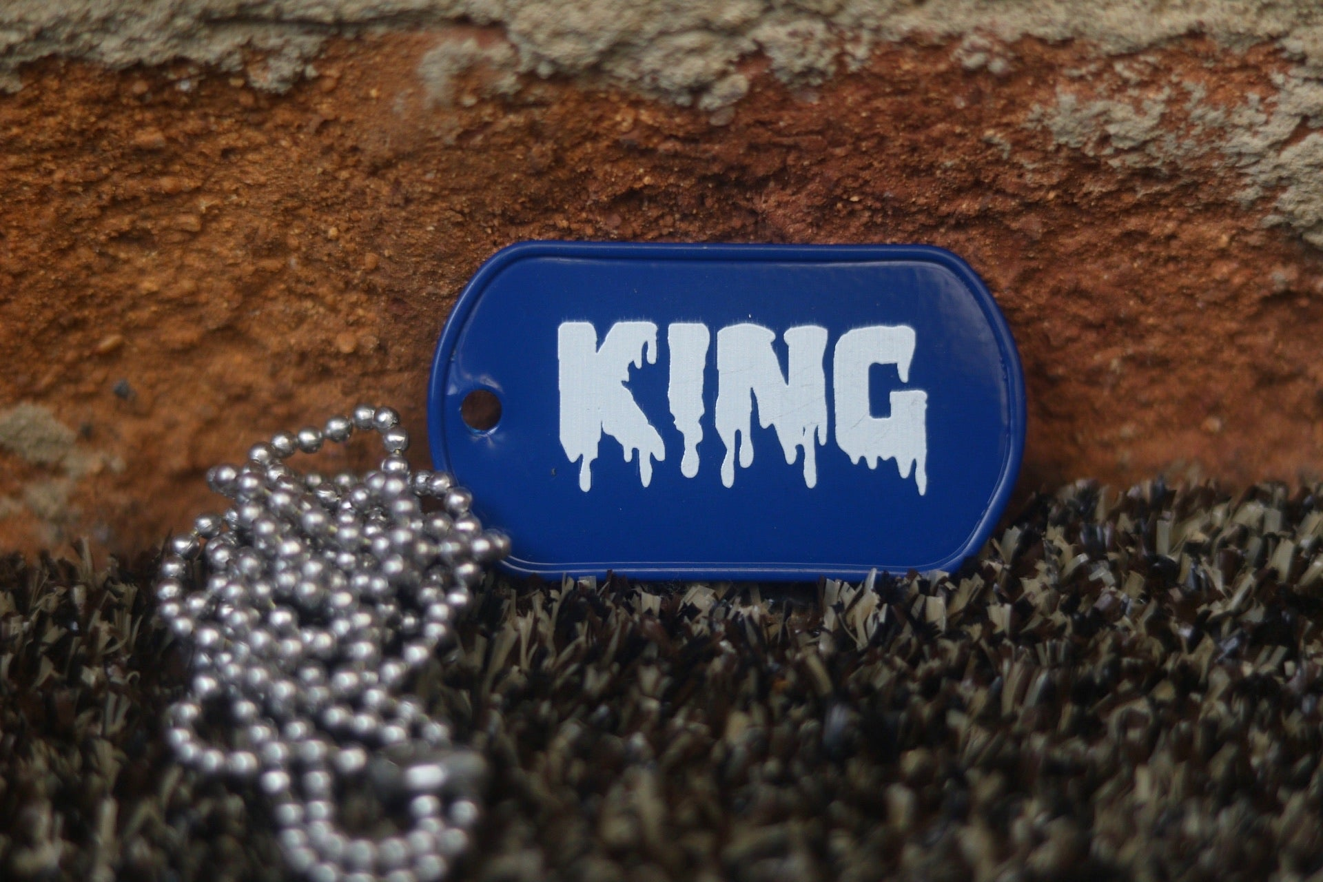 Engraved King Dog Tag
