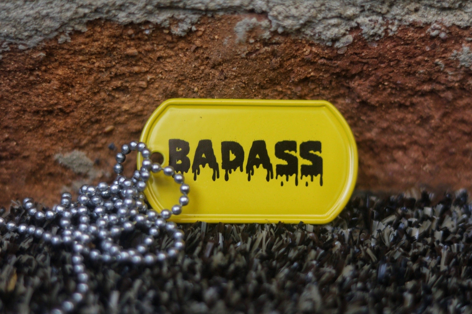 Engraved Badass Dog Tag