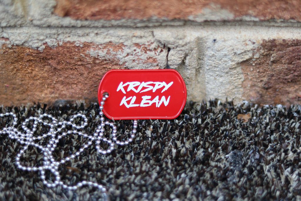 KRISPY KLEAN dog tag