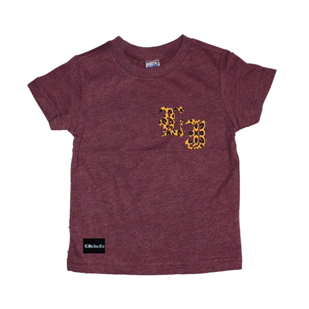 Cheetah Initial/name Tee