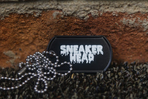 Engraved Sneaker Head Dog Tag