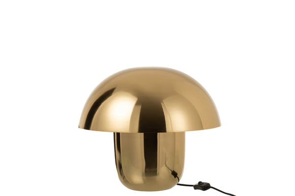 Lampe Champignon Metal Or Lamp Mushroom Iron Gold