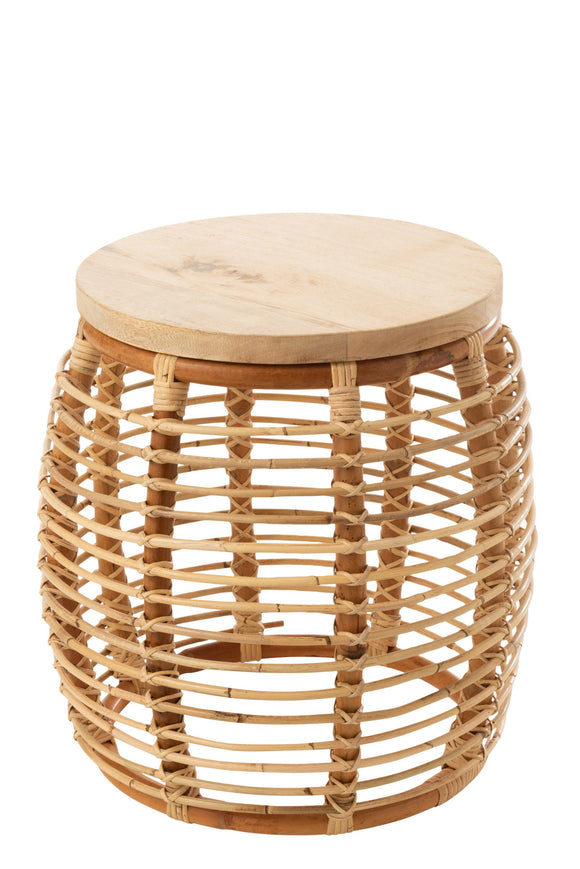 Table Gigogne Ana Rotin Naturel Side Rattan Natural